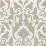 Tapety na stenu Baroque - zámocký vzor svetlo hnedý