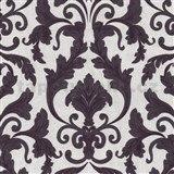 Tapety na stenu Baroque - zámocký vzor hnedo-fialový