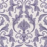 Tapety na stenu Baroque - zámocký vzor fialový