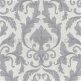Tapety na stenu Baroque - zámocký vzor svetlo fialový