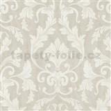 Tapety na stenu Baroque - zámocký vzor biely