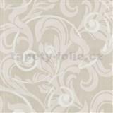 Tapety na stenu Baroque - barokový vzor bielo-krémový