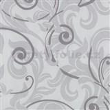 Tapety na stenu Baroque - barokový vzor fialový