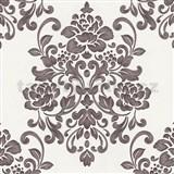 Tapety na stenu Baroque - kvetinový vzor fialový