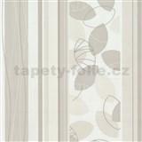 Vliesové tapety Belcanto - lístie béžové