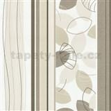 Vliesové tapety Belcanto - lístie hnedé
