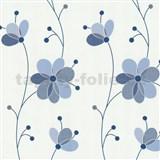 Vliesové tapety Belcanto - kvety modré