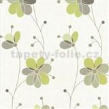 Vliesové tapety Belcanto - kvety zelené