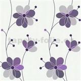 Vliesové tapety Belcanto - kvety fialové