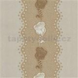 Tapety na stenu Confetti - kvety ruže béžové