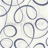 Tapety na stenu Confetti - stuhy modré