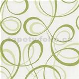 Tapety na stenu Confetti - stuhy zelené