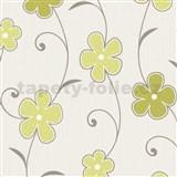 Tapety na stenu Confetti - kvety - zelené