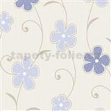Tapety na stenu Confetti - kvety modré