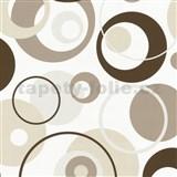 Tapety na stenu Confetti - bubliny hnedé