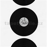Tapety na stenu Dieter Bohlen - vinylová platňa čierna