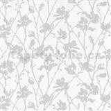 Tapety na stenu Dieter Bohlen - kvety šedej s sivým žíhaním