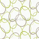 Tapety na stenu Fresh Start elipsy zeleno-hnedé - ZĽAVA