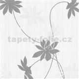 Tapety na stenu Fresh Start kvety šedej