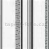 Tapety na stenu Novara pruhy - sivo-biele