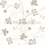Tapety na stenu Novara - kvety hnedé