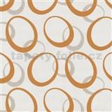 Tapety na stenu Novara elipsy - oranžové