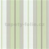 Tapety papierové - zeleno-biele pruhy - ZĽAVA