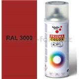 Sprej červený lesklý 400ml, odtieň RAL 3000 farba ohnivo červená lesklá