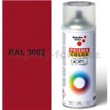 Sprej červený lesklý 400ml, odtieň RAL 3002 farba karmínovo červená lesklá