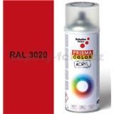 Sprej červený lesklý 400ml, odtieň RAL 3020 farba dopravná červená lesklá