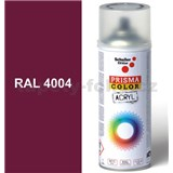 Sprej červený lesklý 400ml, odtieň RAL 4004 farba bordová fialová lesklá