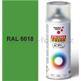 Sprej zelený lesklý 400ml, odtieň RAL 6018 farba žlto-zelená lesklá