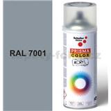 Sprej sivý lesklý 400ml, odtieň RAL 7001 farba strieborno sivá lesklá