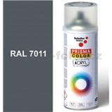 Sprej sivý lesklý 400ml, odtieň RAL 7011 farba oceľovo sivá lesklá