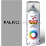 Sprej sivá 400ml, odtieň RAL 9006 farba biela hliníková