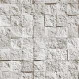 Vinylové tapety Bluff mozaika kamenná sivá