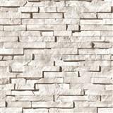 Vinylové tapety kamenná stena svetlo hnedá