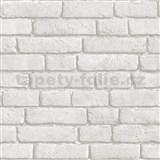 Vinylové tapety Bluff tehla biela