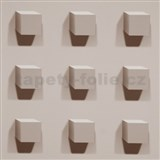 Vliesové tapety Kinetic 3D kocky svetlo hnedé