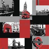 Papierové tapety London