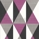 Vliesové tapety Just Like It Cubism fialový