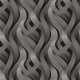 Vinylové tapety na stenu Kinetic 3D abstrakt sivý