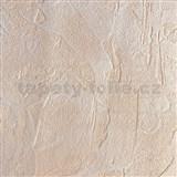 Tapety vliesové - štruktúrovaná omietkovina krémovo hnedá XXL 15 m x 0,53 cm - ZĽAVA