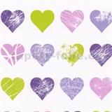Tapety na stenu Young Spirit - srdiečka fialovo-ružové
