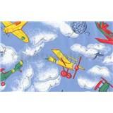 Samolepiace tapety detské - lietadlá, metráž, šírka 67,5 cm, návin 15m,