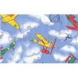 Samolepiace tapety detské - lietadlá 90 cm x 15 m