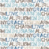 Papierové tapety na stenu Be You - characteristics modro-hnedé