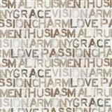 Papierové tapety na stenu Be You - characteristics hnedé