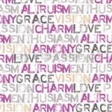 Papierové tapety na stenu Be You - characteristics ružovo-šedé