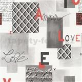 Papierové tapety na stenu Be You - Love šedá